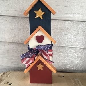 """Other - 12"""" tall wooden 4th July Memorial Day decor"""